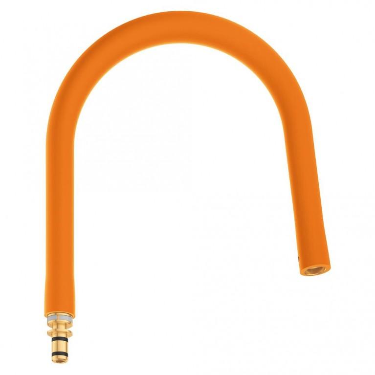 GROHFlexx Шланг гибкий с пружиной для смесителя на мойку, цвет хром/оранжевый, фото 1