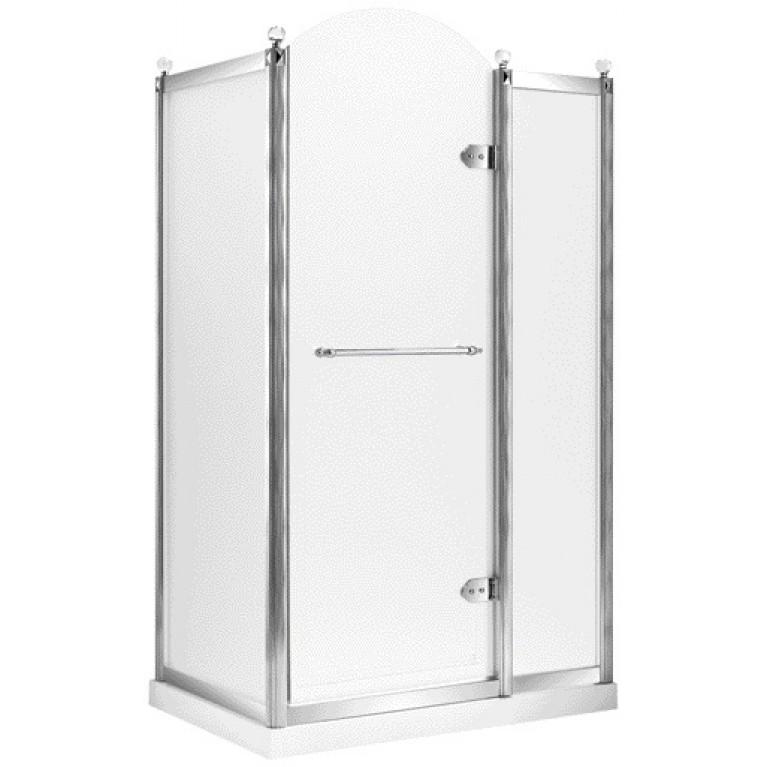 GRAND TENERIFE Silver Кабина с распашной дверью, в серебре, без поддона 1200*800*2000мм, правая, фото 1