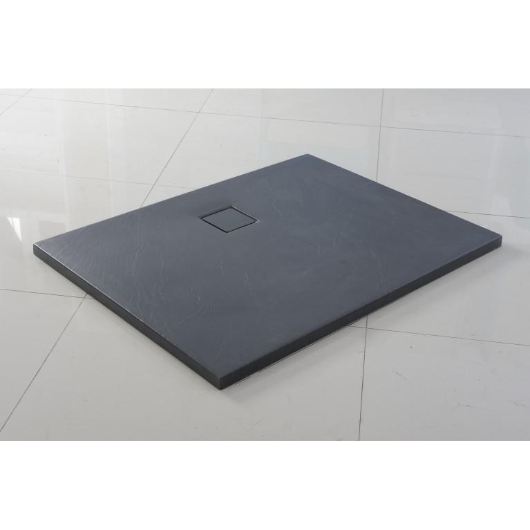 Поддон акриловый фактурный графит 1400*900*30, сифон и крышка в комплекте