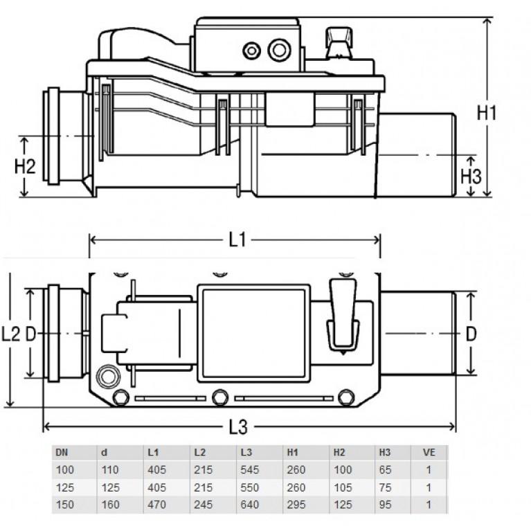 4987.41 Клапан канализационный, обратный Grundfix Plus Control 667788, фото 3