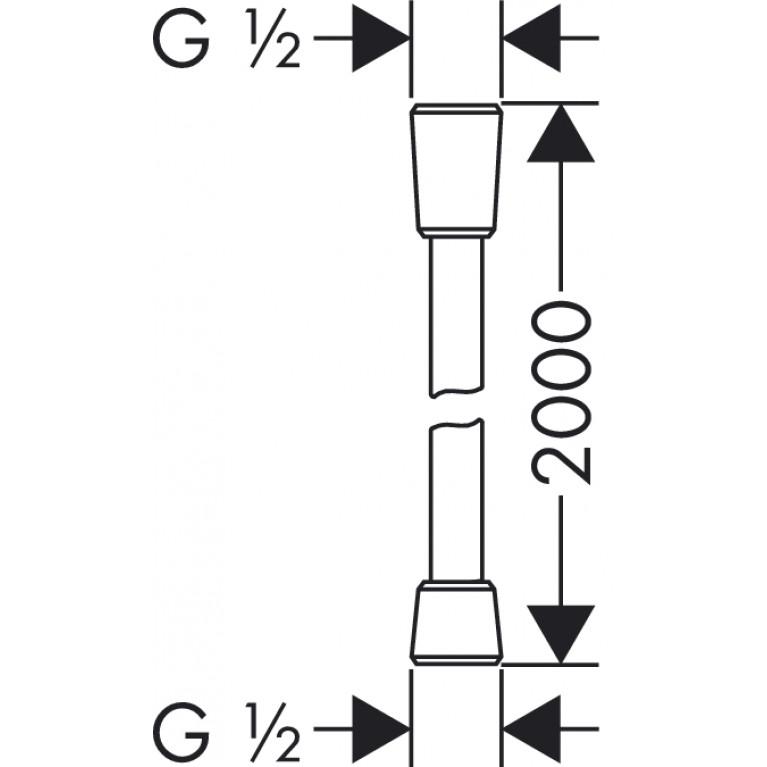 Isiflex``B Шланг душевой 2,00 м 28274000