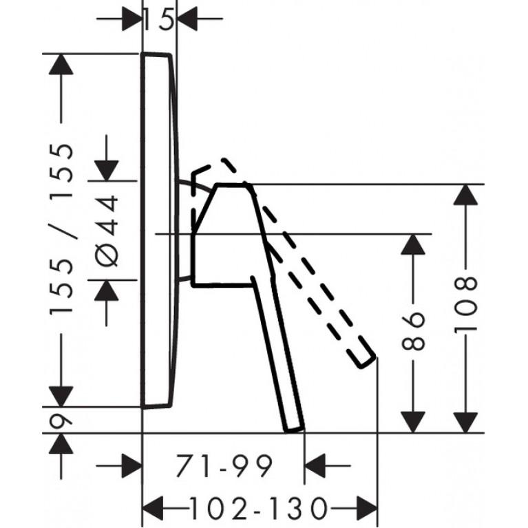 Logis Loop Смеситель для душа однорычажный, скрытый монтаж, хром 71267000