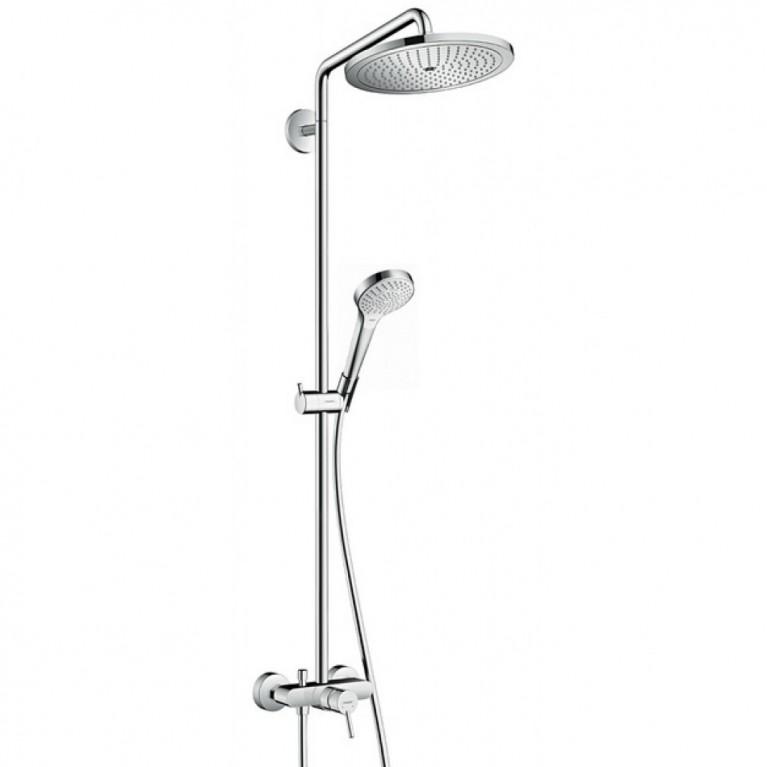 Купить Croma Select Showerpipe Душевая система 280 Air 1jet, с однорычажным смесителем, хром у официального дилера HANSGROHE в Украине