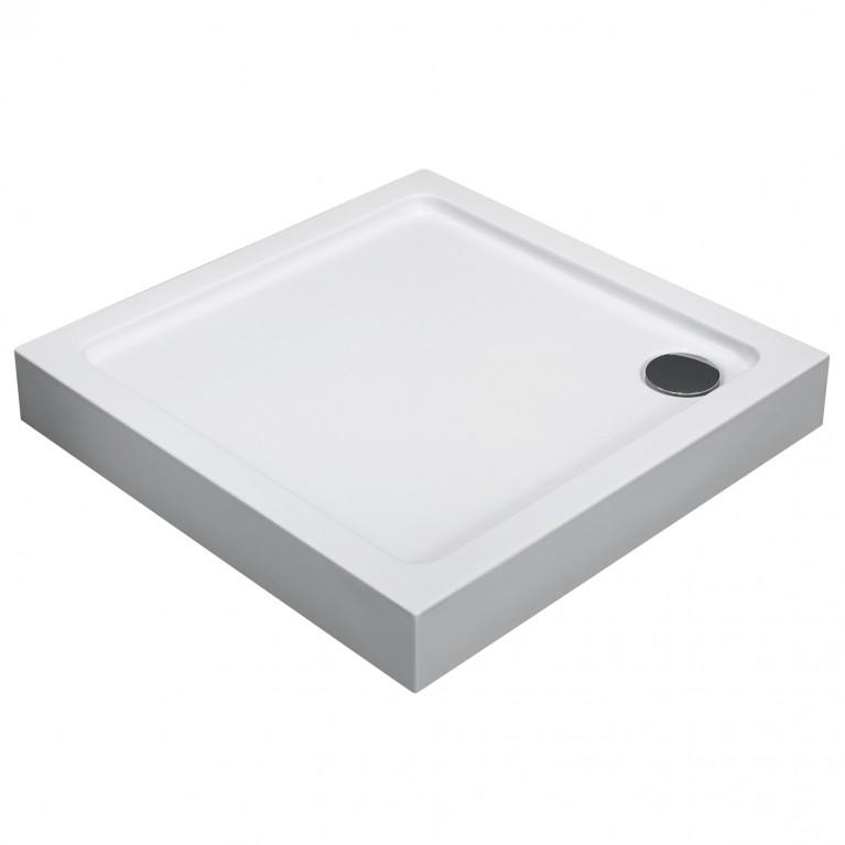 Поддон квадратный акриловый 900*900*135мм, в комплекте с сифоном (антизапах)