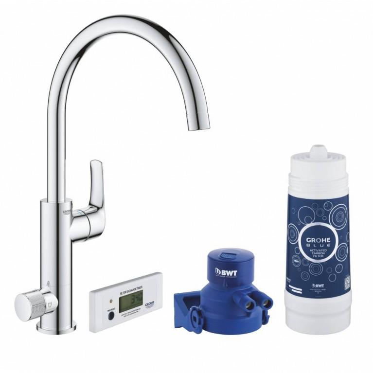 BLUE Pure Eeurosmart смеситель для кухни с фильтр-краном