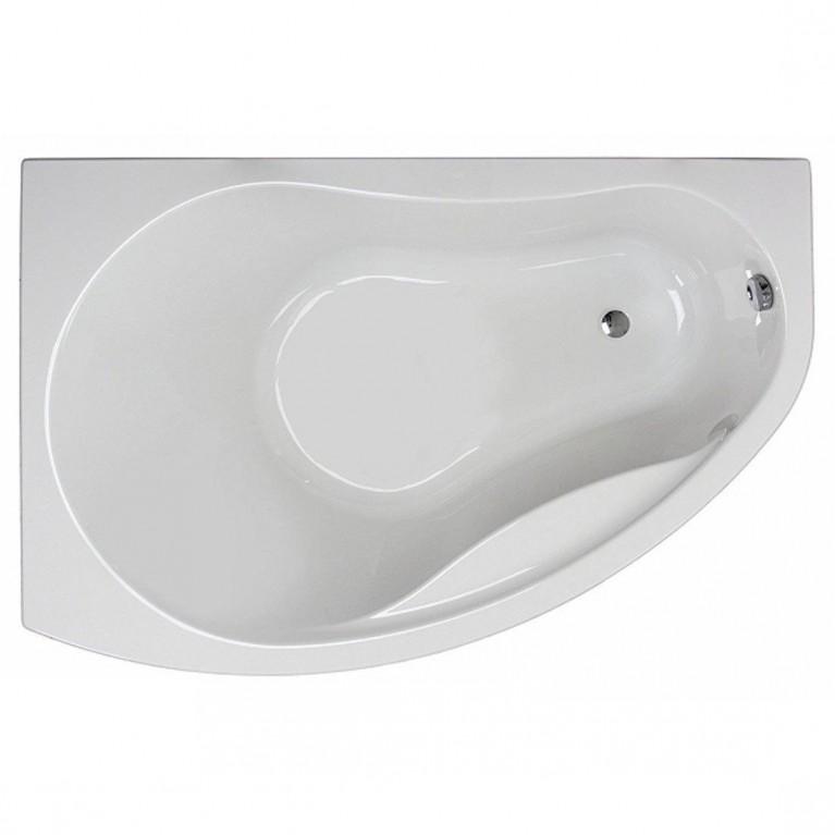 PROMISE ванна асимметричная 150*100 см, левая, белая, с ножками SN7, фото 1