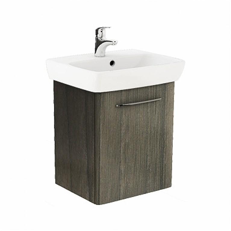 NOVA PRO комплект: умывальник 55см  прямоугольный + шкафчик для умывальника серый ясень, фото 1