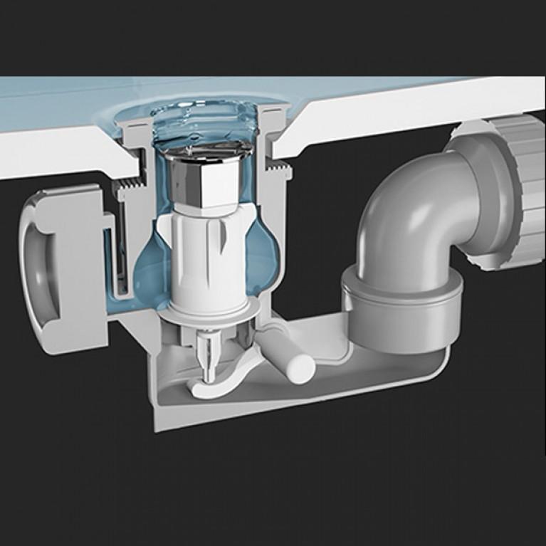 ViFLOW+ скрытый перелив с электронным управлением и встроенным датчиком давления, хром, фото 1