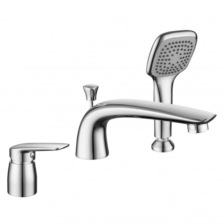 PRAHA new смеситель для ванны, врезной, на три отверстия,  хром, 35 мм, фото 1