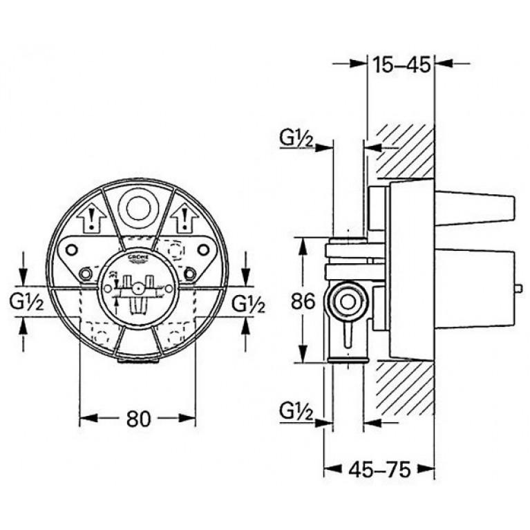 Tenso Внутренняя часть смесителя для душа 33962000