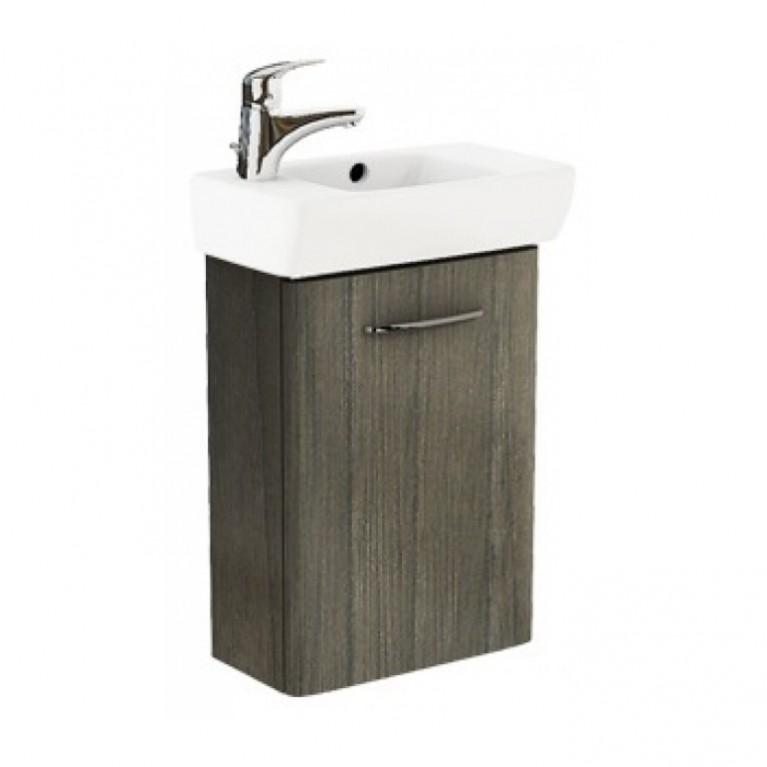 NOVA PRO комплект: умывальник 45см прямоугольный, левое отверстие + шкафчик для умывальника  серый ясень, фото 1