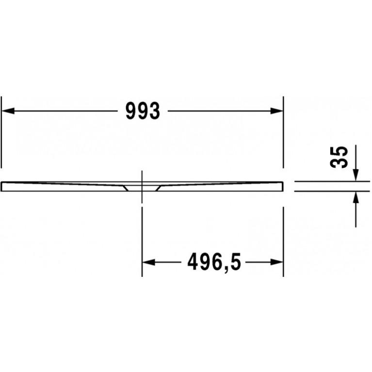 DURAPLAN поддон 100*90*3,5см, сверхплоский, прямоугольный 720084000000000, фото 3