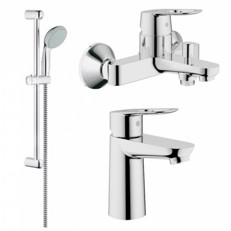 BauLoop Набор смесителей для ванны+кухня