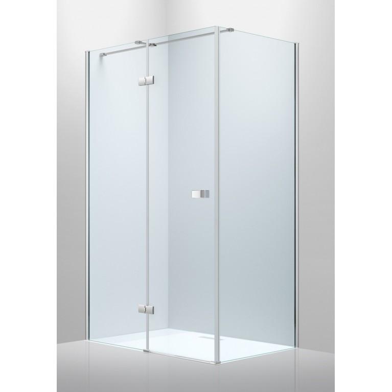 LIBRA душевая кабина 1200*800*2000мм (стекла+двери)левая, распашная, хромированная, стекло прозрачное 8мм
