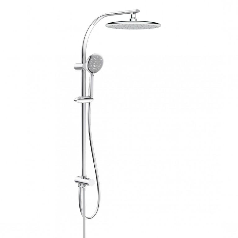 Система душевая без смесителя (верхний (250мм) и ручной душ(120 мм) 3 режима, шланг)