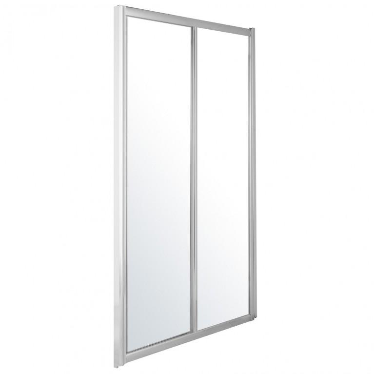 Дверь в нишу раздвижная  120*185 см хром прозрачная