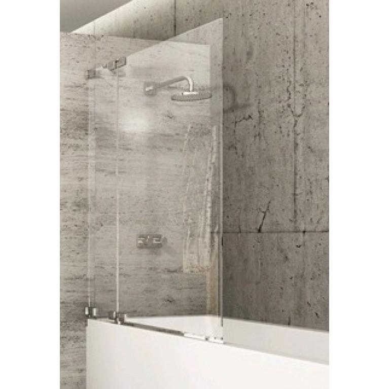 STUDIO BERLIN Шторка для ванной 90*150см (проф хром,стекло прозр Antiplaque)