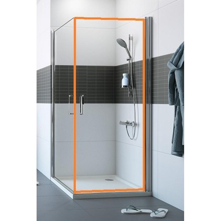 CLASSICS2 Дверь распашная для боковой стенки 90*190см (цв. серебро с ярким блеском+стекло прозр)