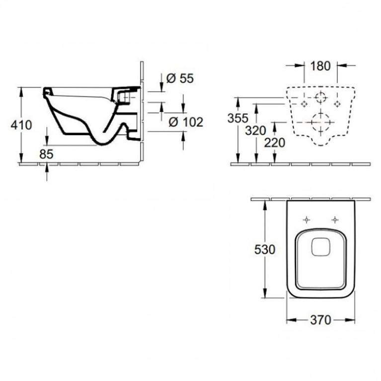 ARCHITECTURA комплект2в1 (комп) 5685H101yнитaз подв+квадратный+сид на унит с функц.soft closing+Grohe 38772001 5685H101+38772001, фото 3