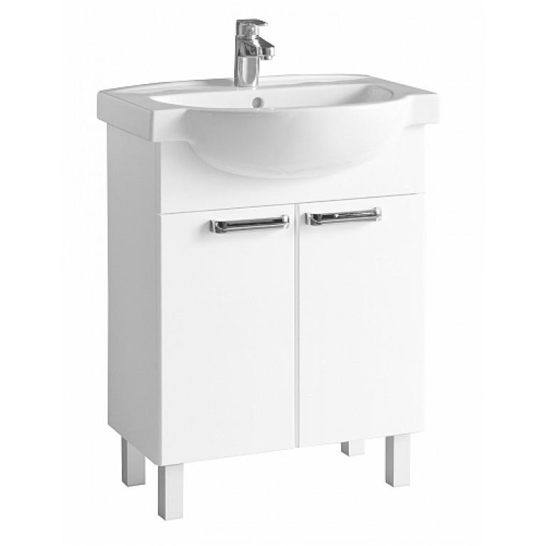 FREJA шкафчик под мебельный умывальник 65 см, белый глянец (укр), фото 1