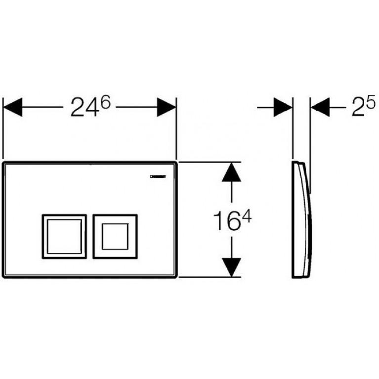 Delta 50 Смывная клавиша, пластик, белый 115.135.11.1