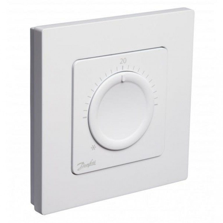 Danfoss Терморегулятор Icon Display, механический, 230V, 80 х 80мм, In-Wall, белый 088U1000, фото 3