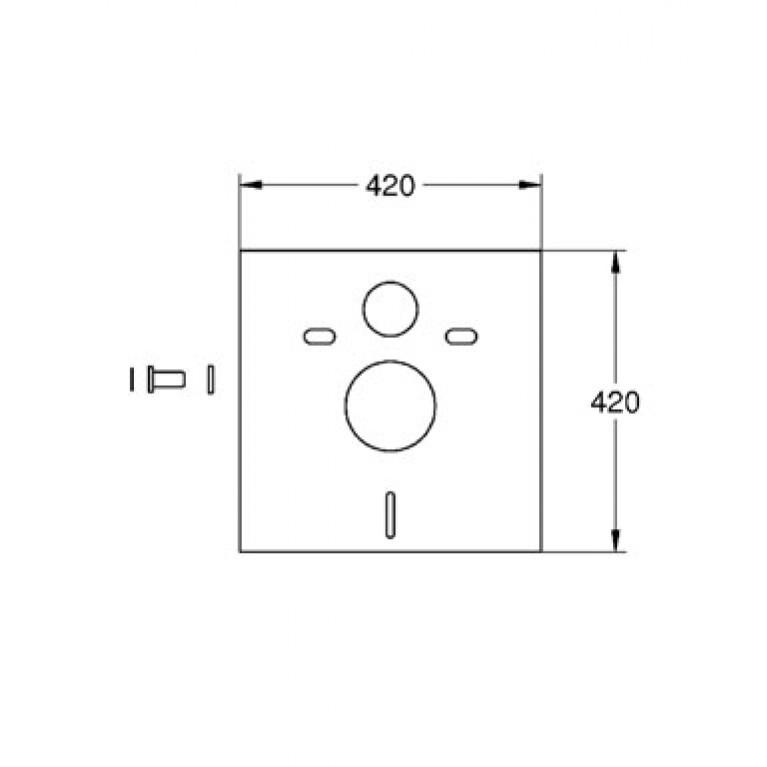 Grohe Звукоизоляционная прокладка для унитаза 37131000, фото 2