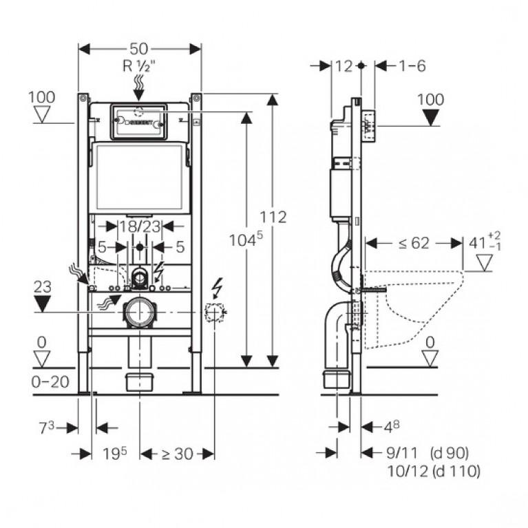 Комплект: IDOL унитаз подвесной, сидение с микролифтом M1310002U+458.126.00.1, фото 2