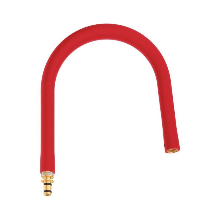 GROHFlexx Шланг гибкий с пружиной для смесителя на мойку, цвет хром/красный, фото 1