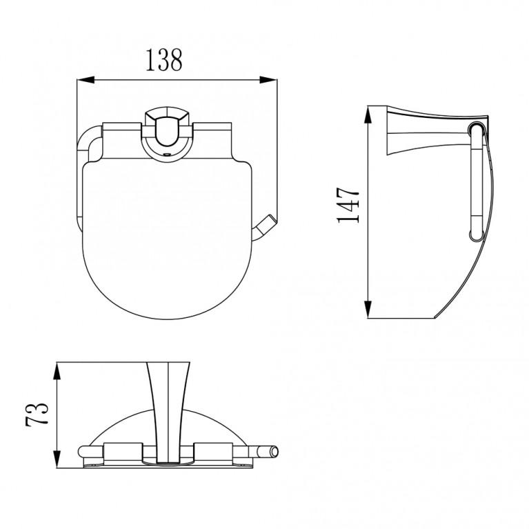 CUTHNA stribro держатель для туалетной бумаги 140280 stribro, фото 2