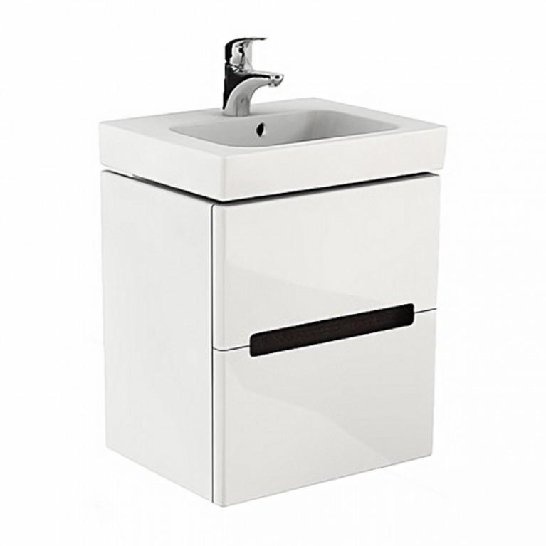 MODO шкафчик под умывальник 50*65*40 см белый глянец/венге (пол.), фото 1