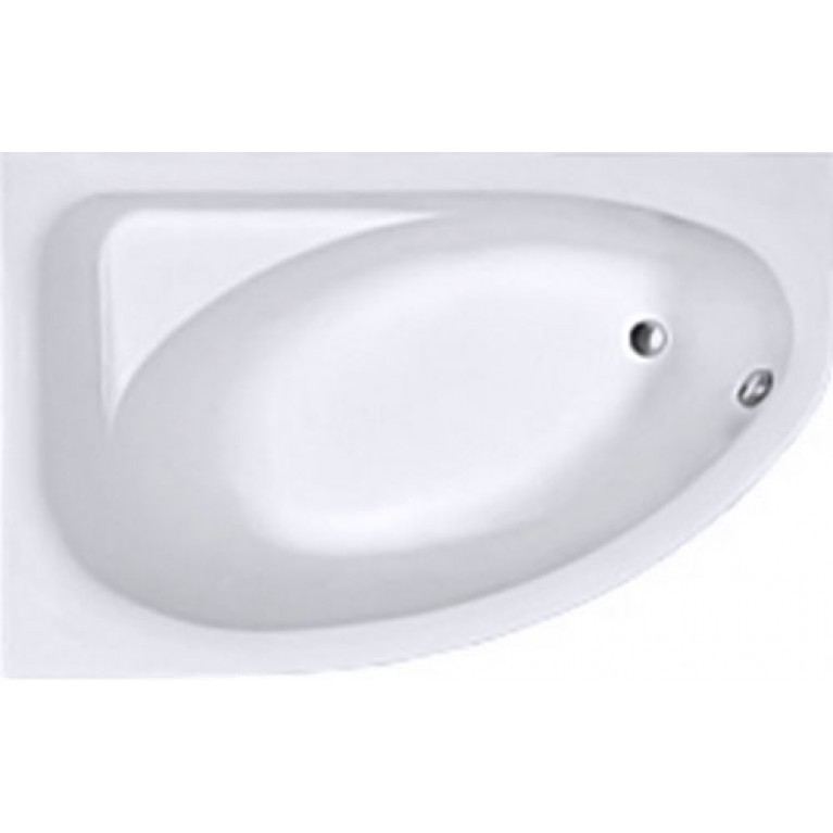 SPRING ванна асимметричная 160*100 см, левая, белая, с ножками SN7, фото 1
