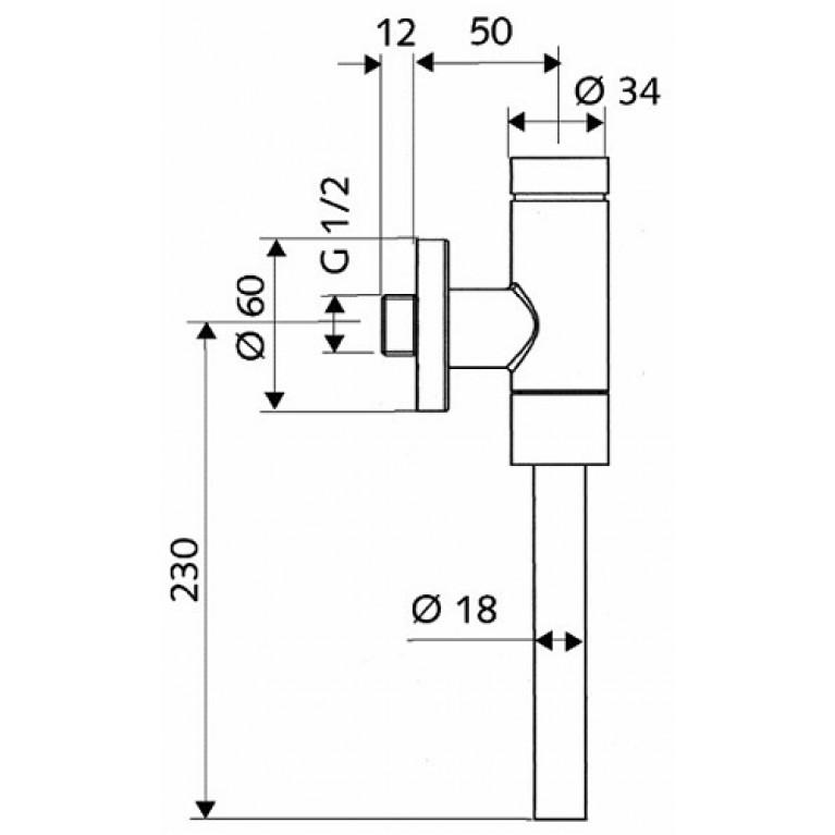 SCHELLOMAT клапан смывной напорный (пол.) 96017000, фото 2