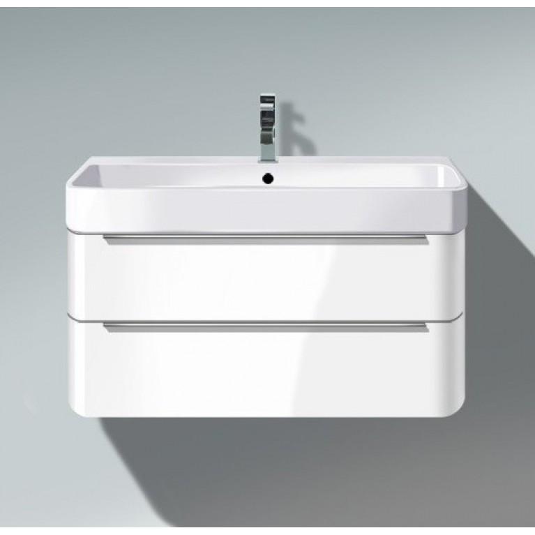 HAPPY D 2 тумба 625*480мм подвесная, для Happy D.2 231865, 2 ящика, вкл.вырез и крышку для сифона, цвет белый глянец (22)