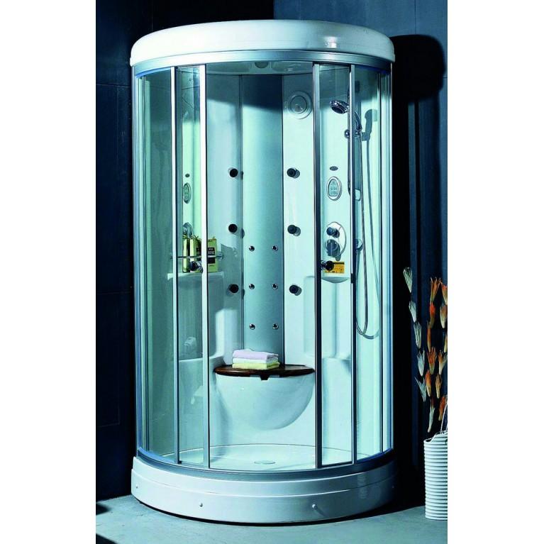 Гидробокс без пара на мелком поддоне 1030*1030*2230 мм, угловой