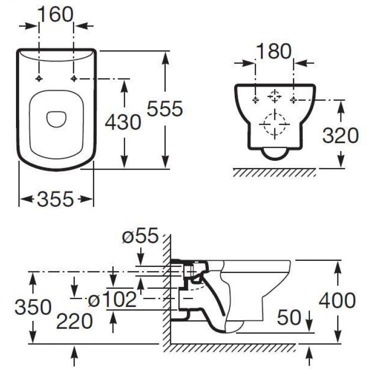 DAMA SENSO чаша подвесного унитаза A346517000, фото 2