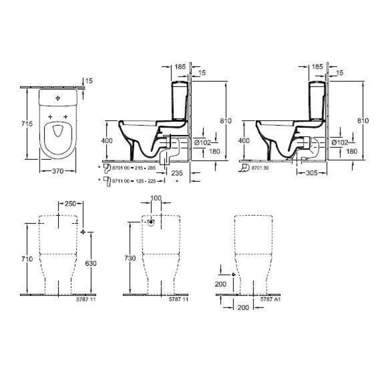ARCHITECTURA унитаз 37*70см, с вертикальным смывом, гориз. выпуск, White Alpin 56861001, фото 4