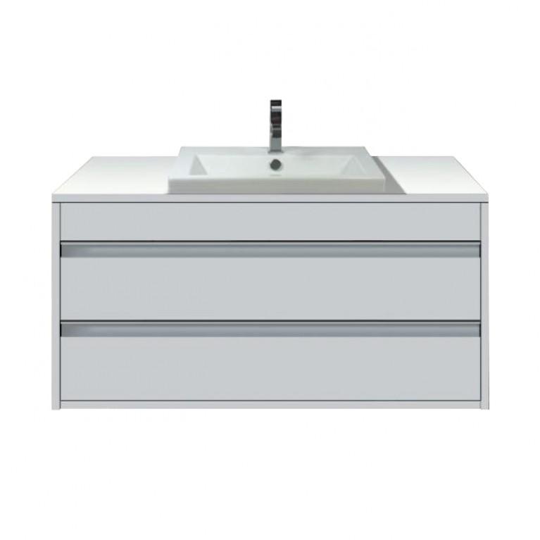 KETHO шкаф подвесной под умывальник 100*49,6см (цвет белый матовый)