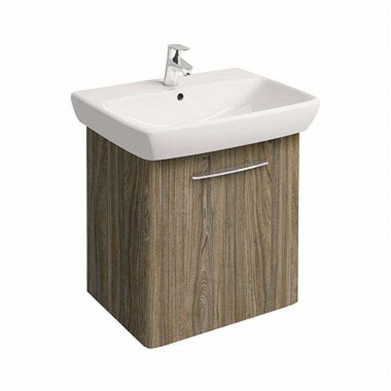NOVA PRO комплект: умывальник 65 см  прямоугольный + шкафчик серый ясень, фото 1