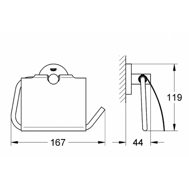 Essentials Держатель для туалетной бумаги 40367001