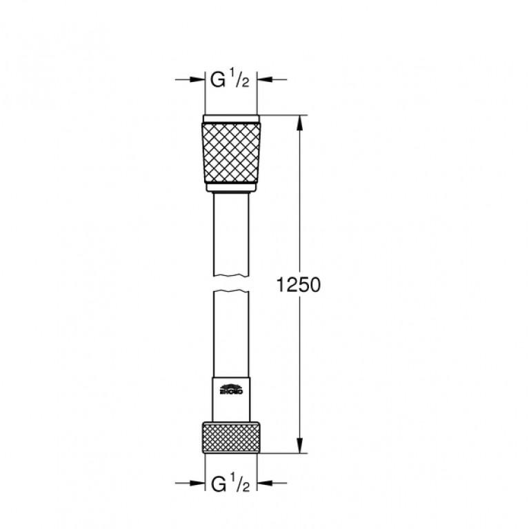 Relexaflex шланг душевой 125см 45971001, фото 2