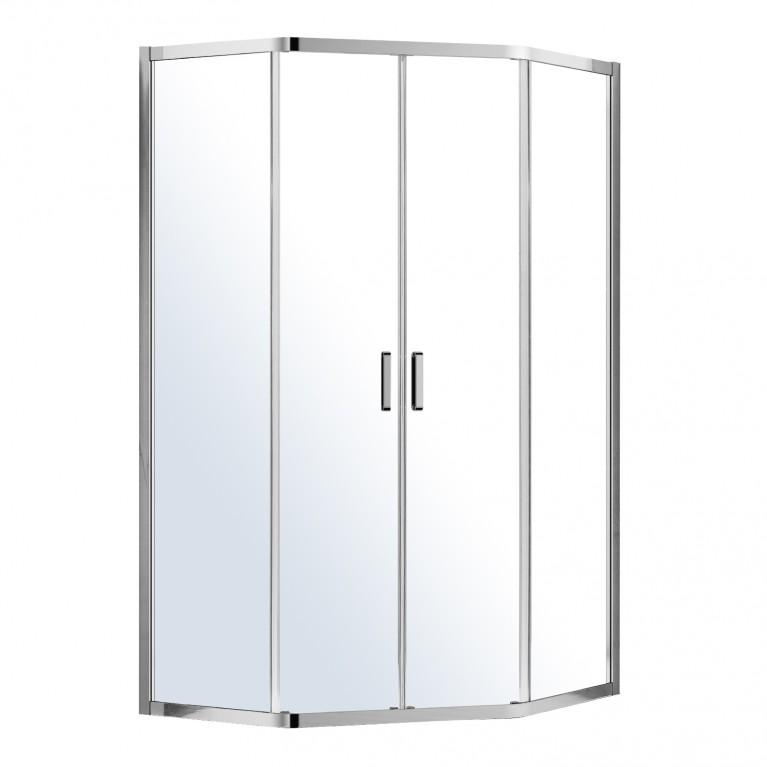 IRIS душевая кабина 5-ти угольная 100*100*195см, с раздвижными дверями (стекла+двери)