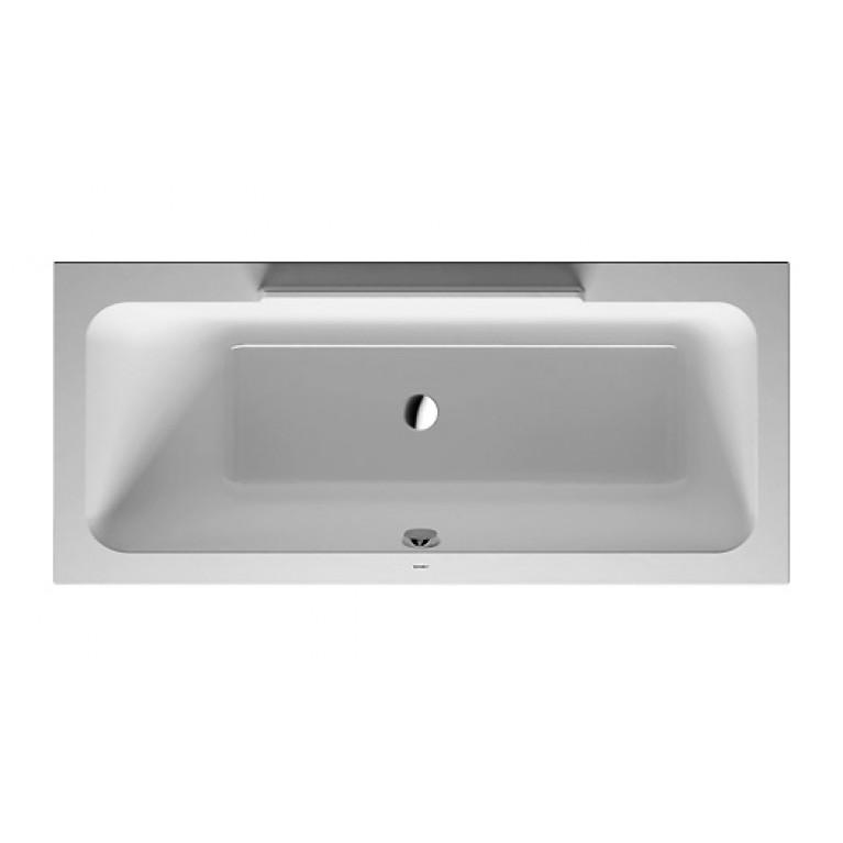DURASTYLE ванна 170*75*46см, прямоугольная, встраиваемая версия или версия с панелями, с наклоном для спины слева, фото 1