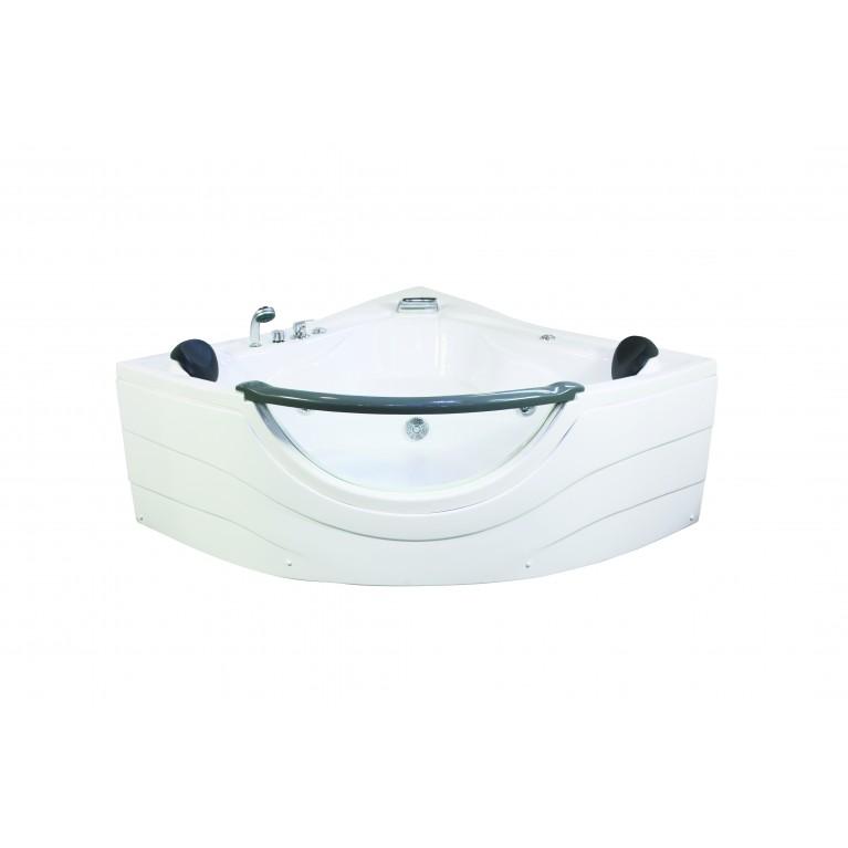 Ванна угловая с гидромассажем и пневмокнопкой 1520*1520*710 мм