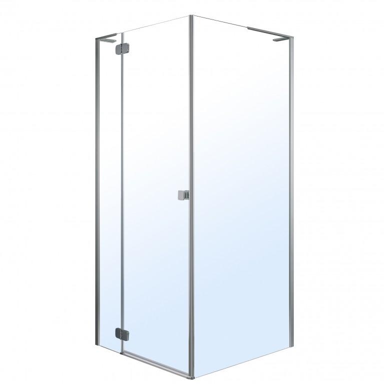 BENITA душевая кабина квадратная 900*900*1950 мм (стекло,дверь, комплектация), левая, распашная, хром, прозрачное