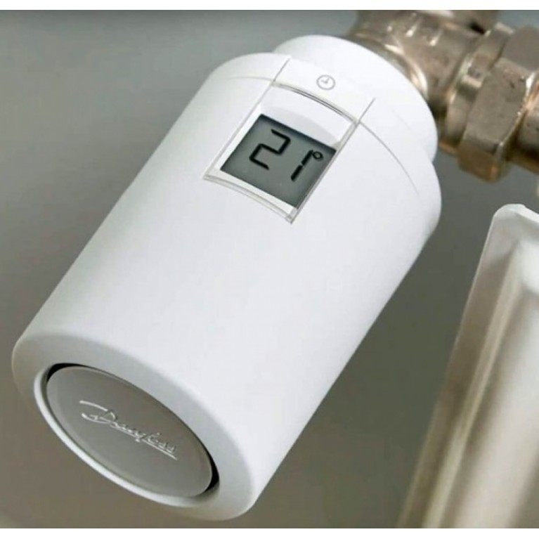 Danfoss Умная термоголовка Eco, Bluetooth, резьба М30 х 1.5, 2 x AA, 3V, белая 014G1001, фото 4