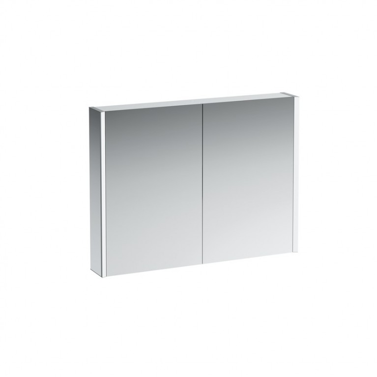 Купить FRAME 25 зеркальный шкафчик 75*100*15см, с 2мя дверцами, с подсветкой, с сенсорным выключателем, с EU розеткой у официального дилера LAUFEN в Украине