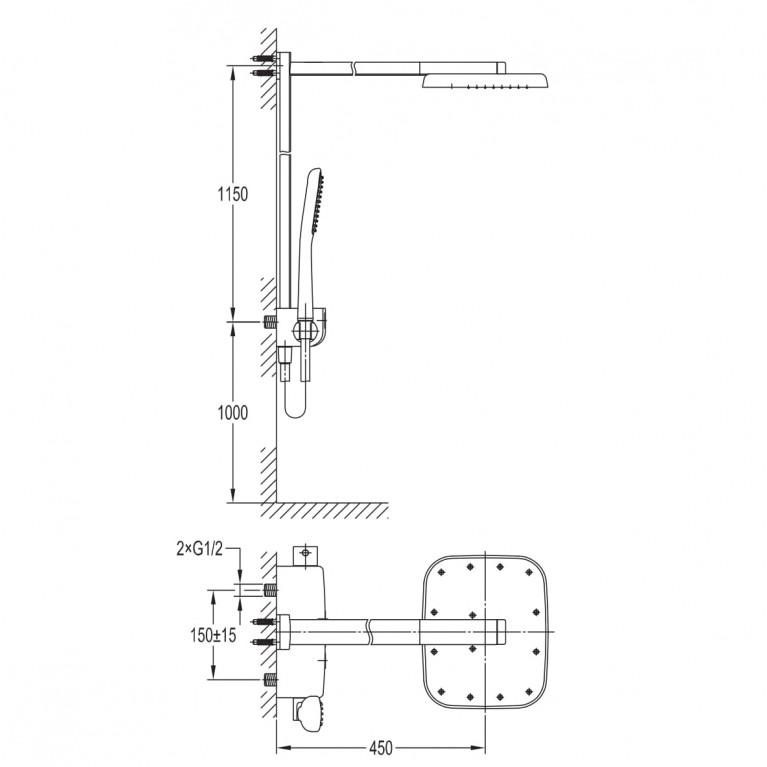 SMART CLICK система душевая  для душа с термостатом, хром ZMK101901090, фото 2