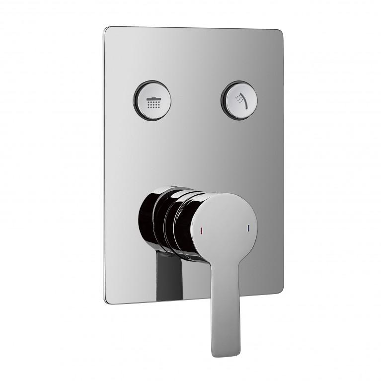 SMART CLICK смеситель для душа(скрытый монтаж), 2 режима, хром, фото 1
