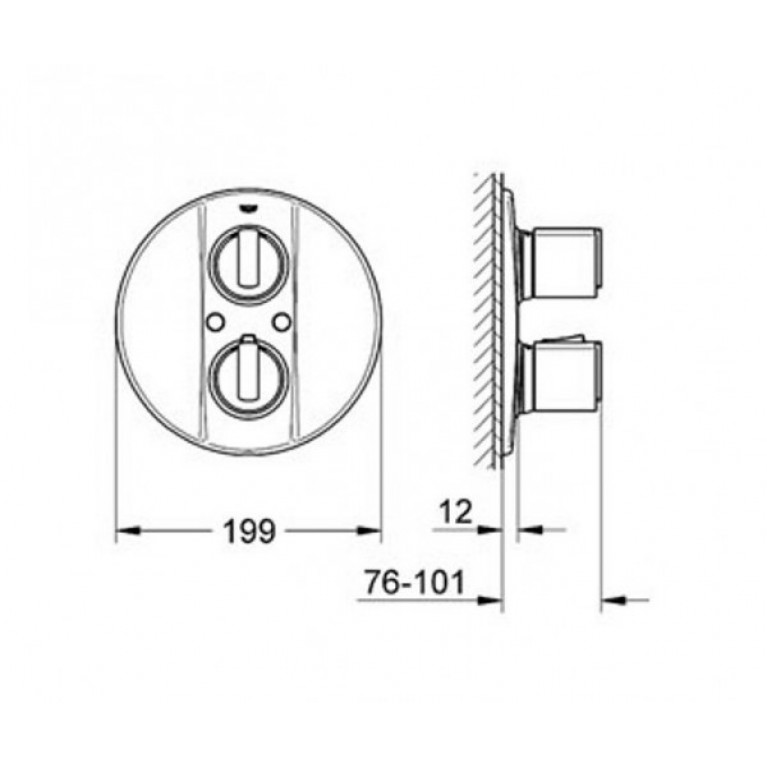 Grohtherm2000 Термостат для душа 19241000